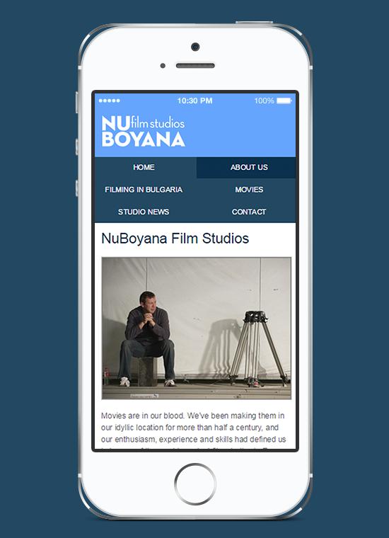 Responsive website for NuBoyana