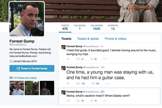 Forrest Gump Twitter Account