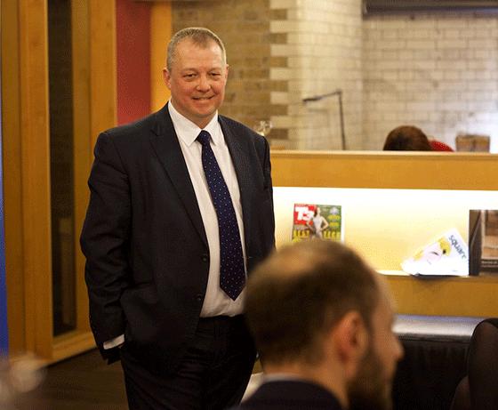 Jonathan Andrews - inspiring world partnerships - at his event