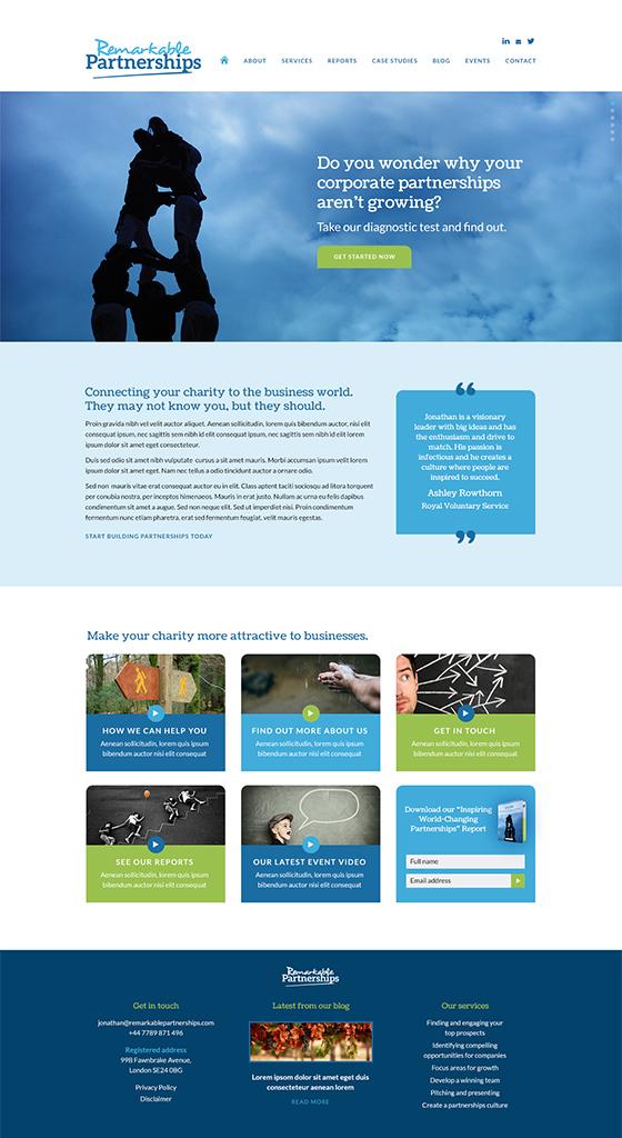 Remarkable Partnerships website