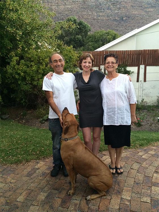 Keren, Justin and Lisa and Sheba the dog