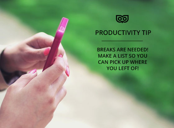 Take a break - template the things you need to do over and over