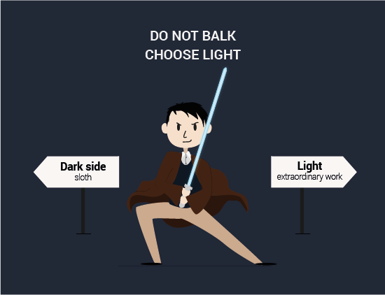 Do not balk! - illustration by Gabrielle Villaumé