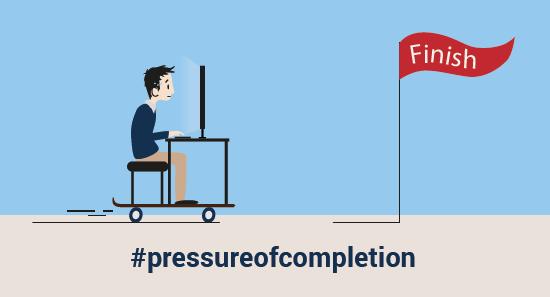 Pressure of Completion - illustration by Gabrielle Villaumé