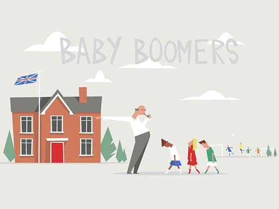 Brexit Babyboomers illustration