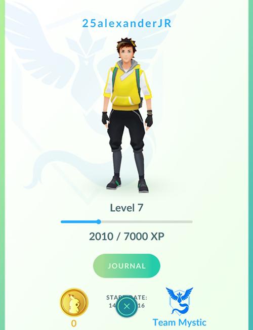 Pokemon Go - James's avatar profile