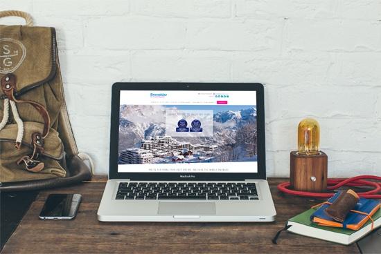 Snowbizz' bespoke website