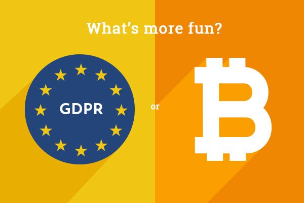 GDPR - what's more fun? GDPR or Bitcoin?