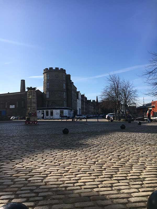 Edinburgh for Vistage talks - outside the Malmaison