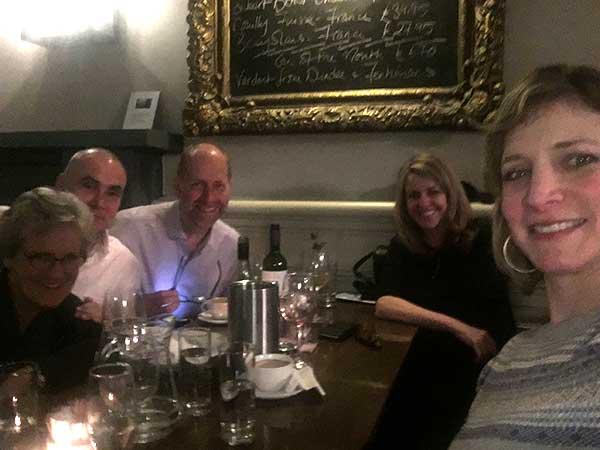Vistage - dinner after the first workshop in Edinburgh