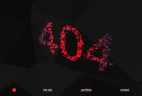 hotdot 404 page