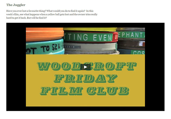 Woodcroft School Home School website - Friday Film Club