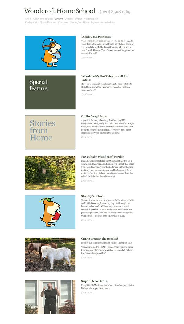 Woodcroft Home School menu