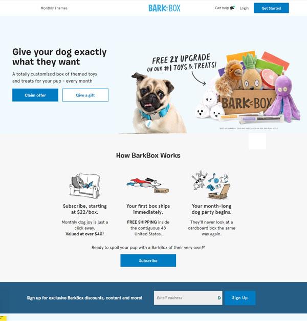 Example - Barkbox