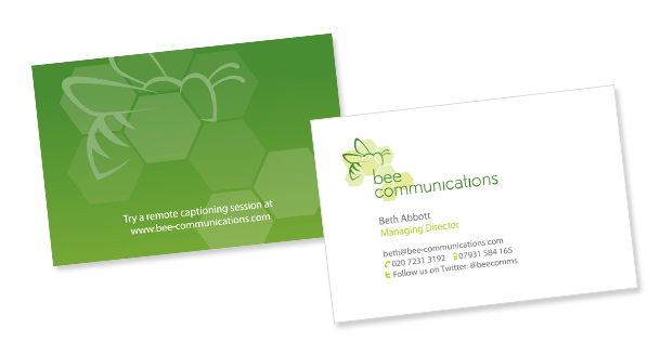 Bee Communcations business cards