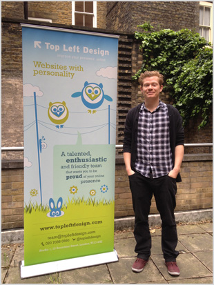 Aric with the TLD banner