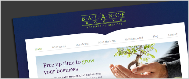 Balance Books website