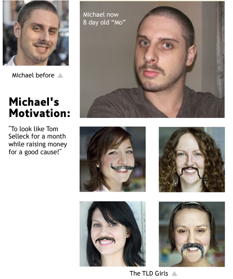 Michael joins TLD and grows a moustache soon after
