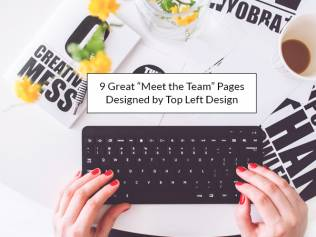 """9 great """"Meet the Team"""" pages designed by Top Left Design"""