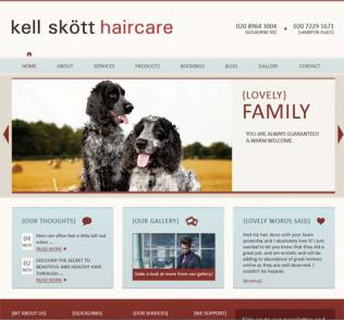 Shiny new hairdresser website for Kell Skött Haircare – a website with personality
