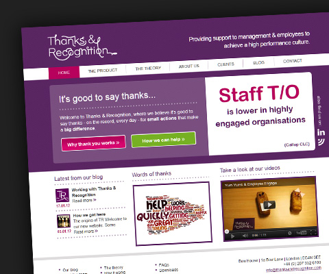 Launch of the Thanks and Recognition website