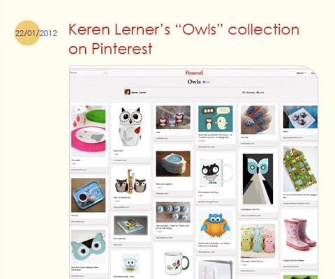 "Tina Webster Illustration blog's about our ""Owls"" Pinterest board"