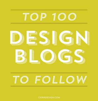 We're in the top 100 of all the design blogs to follow in 2013! Woohoo!