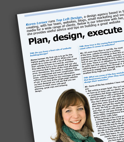 Keren's interview with T4B Magazine – specifically for UK Financial Advisers – but good advice for every one.