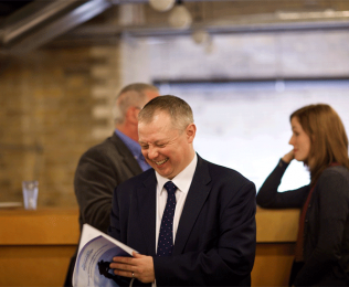 Jonathan Andrews - inspiring world partnerships - and the latest report we designed for him
