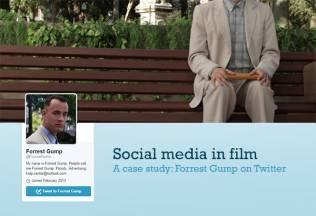 Social media in film: Forrest Gump on Twitter