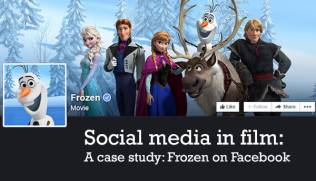 Social media in film - case study - Frozen on Facebook