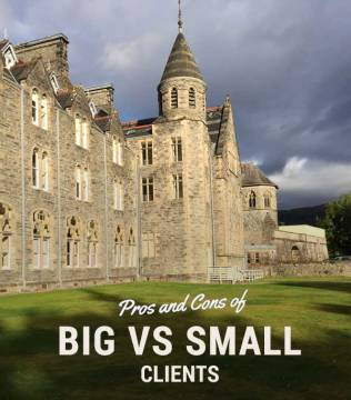 Pros and Cons of Big vs Small clients