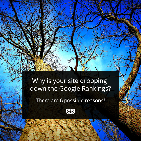 6 reasons your site might be dropping down the Google Rankings
