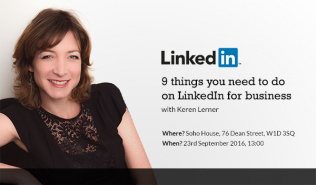 Soho House lunchtime talk - 9 things you need to do on LinkedIn for business
