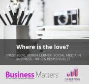 Take Responsibility for your social media: my guest contributions on Marketing Business Forum and Business Matters Magazine