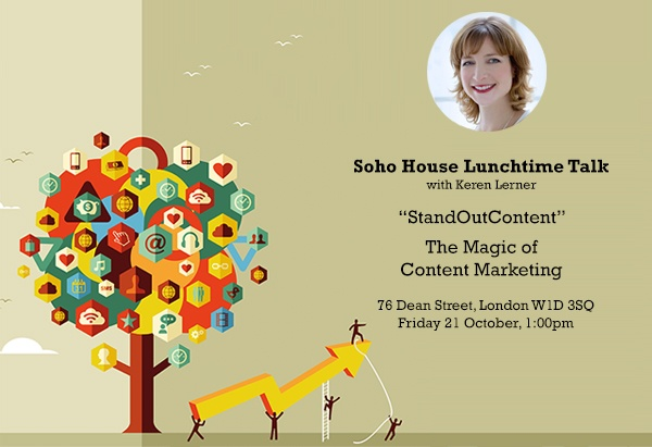 Soho House Lunchtime Talk - Content Marketing