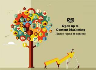 Open up to Content Marketing - Plus: 9 types of content