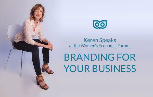 Keren speaks - WEF conference