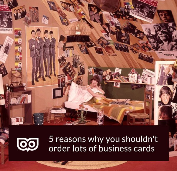 Never over order your business cards!