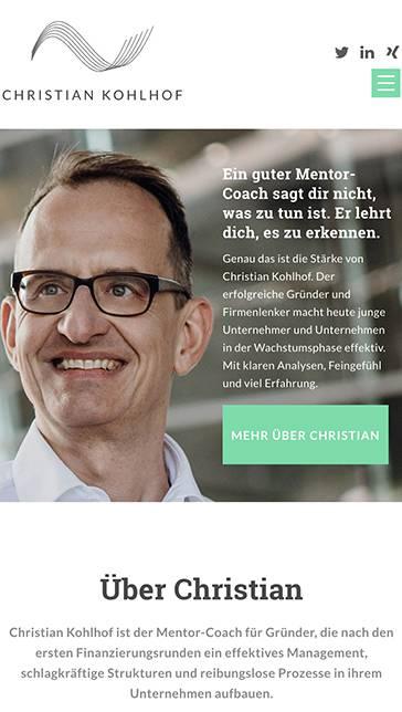 Christian Kholhof portfolio mobile