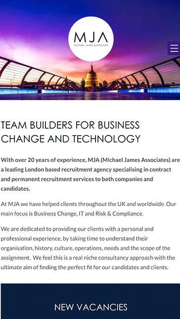 MJA portfolio mobile