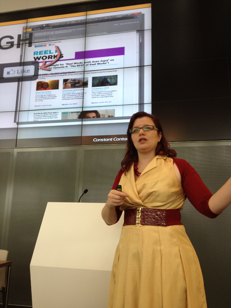 Tamsin Fox Davies talking about email marketing