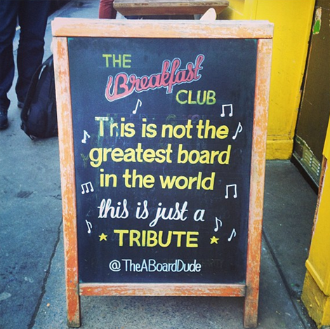 "The A Board Dude - Joshua Harris - ""This is just a tribute"""