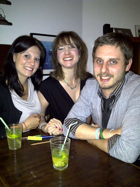 Cocktail party - me, Keren and Michael