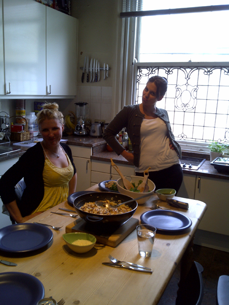 Tamlyn and me and the lunch Tamlyn made
