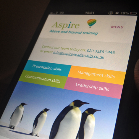 Aspire Leadership website - ipad