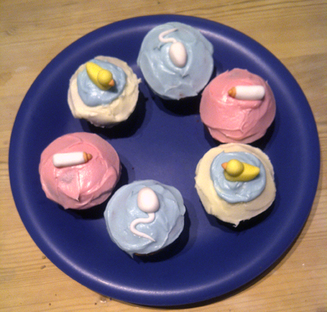 We also asked Tamlyn to make them for my cousin's baby shower