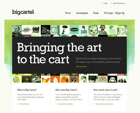 Big Cartel - bringing the art to the cart