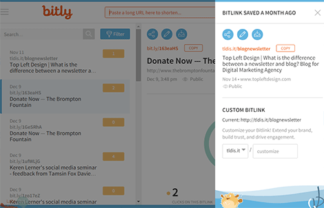 Bitly - customise your URLS