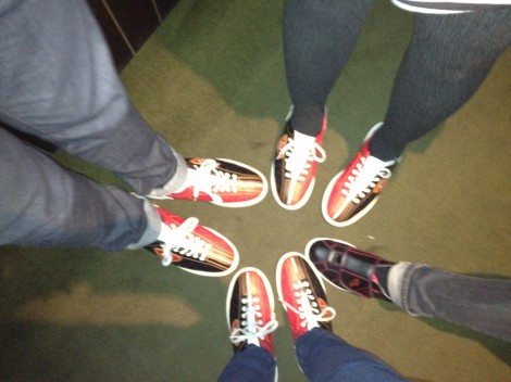 Can you guess whose shoes are whose?